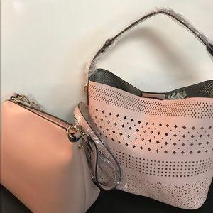 2 Piece Laser Cut Handbag Set